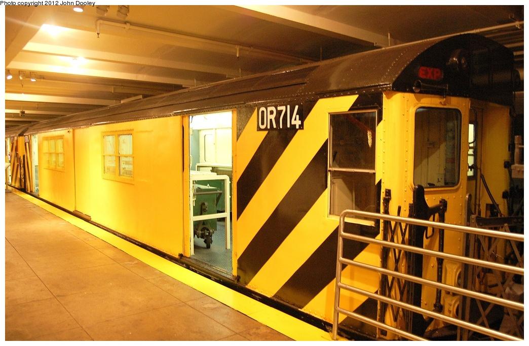 (327k, 1044x682)<br><b>Country:</b> United States<br><b>City:</b> New York<br><b>System:</b> New York City Transit<br><b>Location:</b> New York Transit Museum<br><b>Car:</b> R-95 Revenue Collector 0R715 <br><b>Photo by:</b> John Dooley<br><b>Date:</b> 10/2/2011<br><b>Viewed (this week/total):</b> 1 / 983