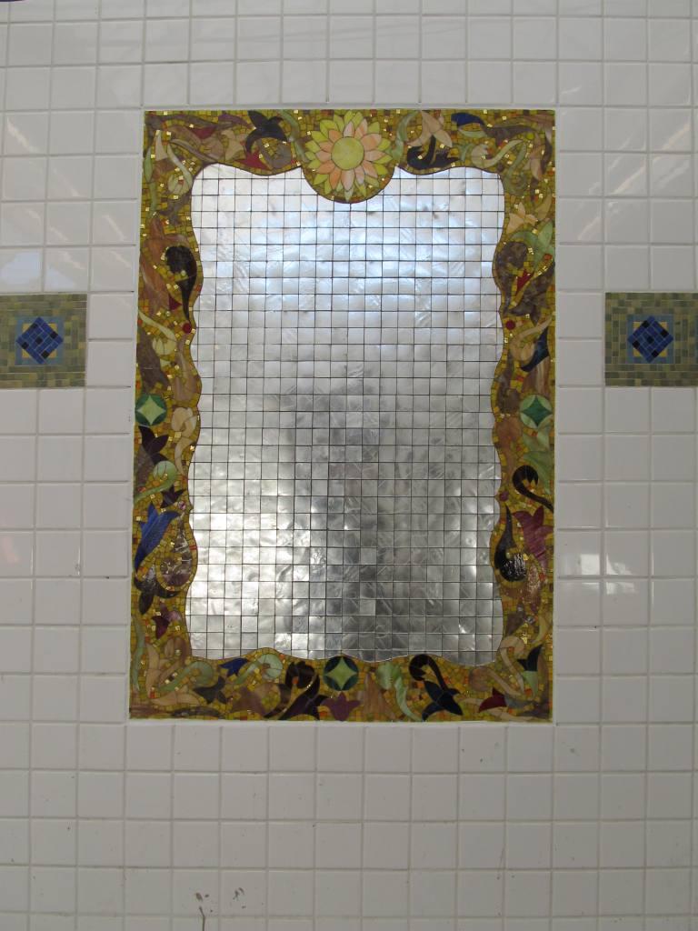 (100k, 768x1024)<br><b>Country:</b> United States<br><b>City:</b> New York<br><b>System:</b> New York City Transit<br><b>Line:</b> IRT White Plains Road Line<br><b>Location:</b> East 180th Street <br><b>Photo by:</b> Robbie Rosenfeld<br><b>Date:</b> 1/18/2012<br><b>Artwork:</b> <i>Station Villa</i>, Luisa Caldwell (2011).<br><b>Viewed (this week/total):</b> 1 / 1265