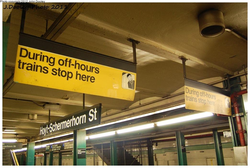 (318k, 1044x701)<br><b>Country:</b> United States<br><b>City:</b> New York<br><b>System:</b> New York City Transit<br><b>Line:</b> IND Fulton Street Line<br><b>Location:</b> Hoyt-Schermerhorn Street <br><b>Photo by:</b> John Dooley<br><b>Date:</b> 7/22/2011<br><b>Viewed (this week/total):</b> 4 / 768
