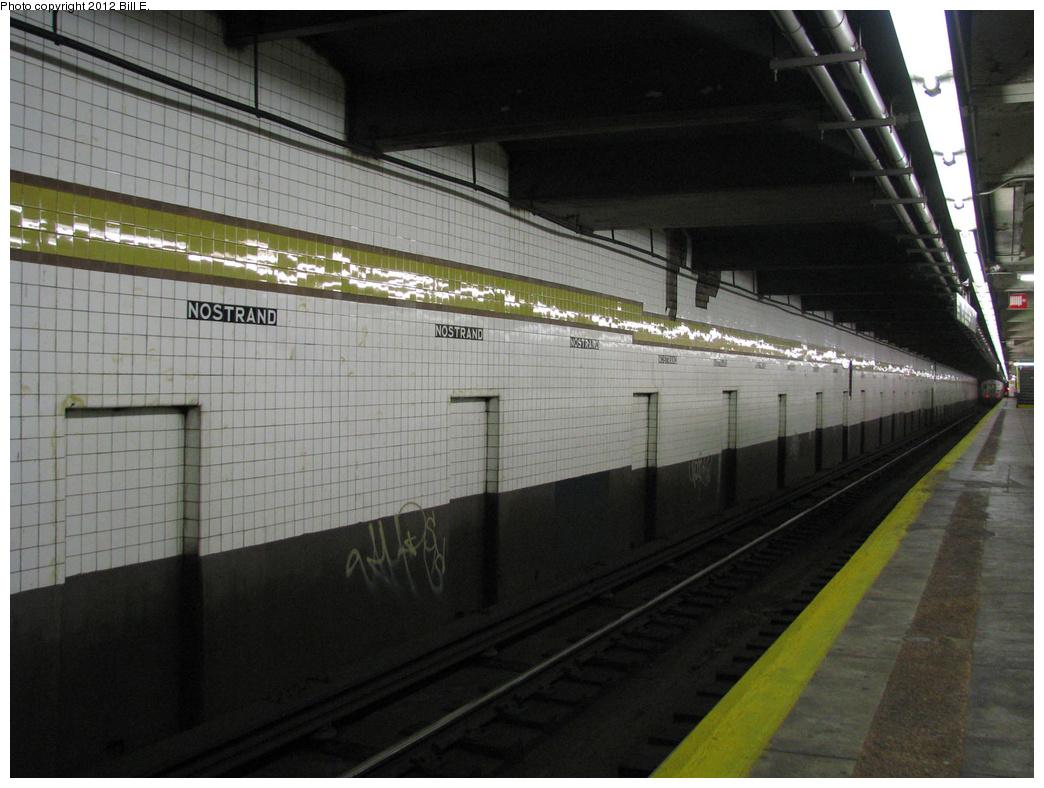 (350k, 1044x788)<br><b>Country:</b> United States<br><b>City:</b> New York<br><b>System:</b> New York City Transit<br><b>Line:</b> IND Fulton Street Line<br><b>Location:</b> Nostrand Avenue <br><b>Photo by:</b> Bill E.<br><b>Date:</b> 7/25/2011<br><b>Viewed (this week/total):</b> 0 / 911