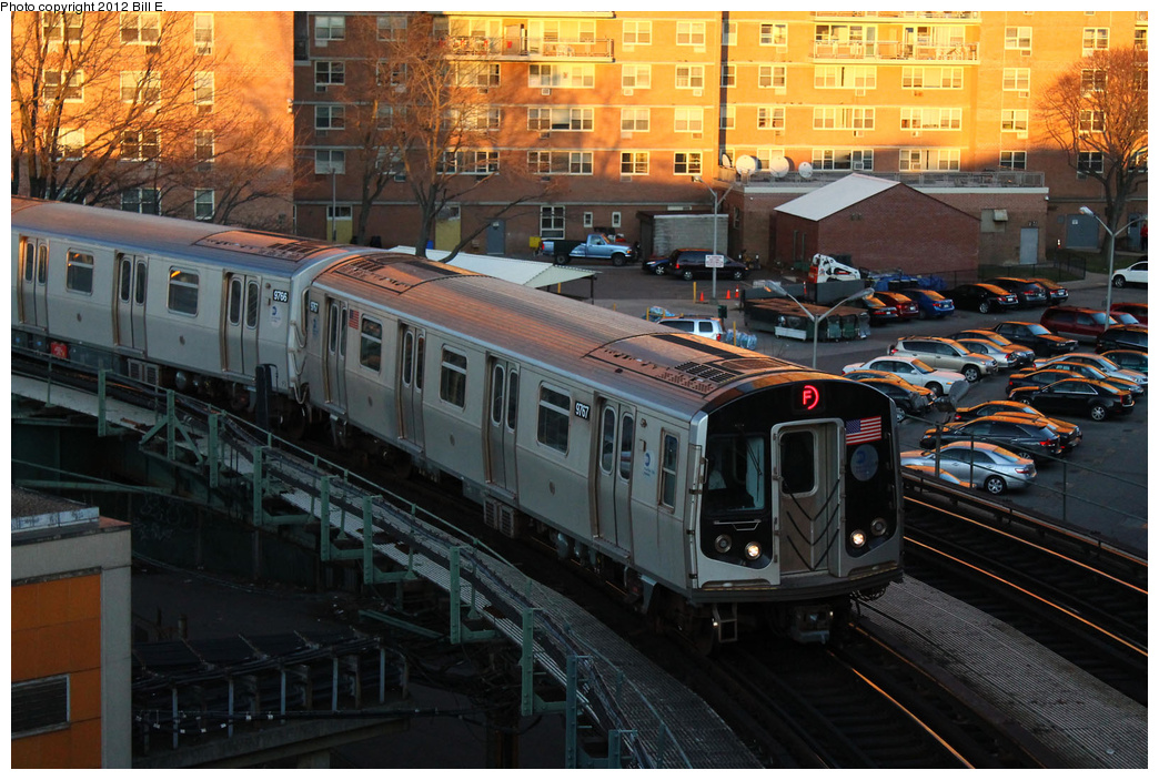 (410k, 1044x703)<br><b>Country:</b> United States<br><b>City:</b> New York<br><b>System:</b> New York City Transit<br><b>Line:</b> BMT Culver Line<br><b>Location:</b> West 8th Street <br><b>Route:</b> F<br><b>Car:</b> R-160A (Option 2) (Alstom, 2009, 5-car sets)  9769 <br><b>Photo by:</b> Bill E.<br><b>Date:</b> 12/24/2011<br><b>Viewed (this week/total):</b> 0 / 994