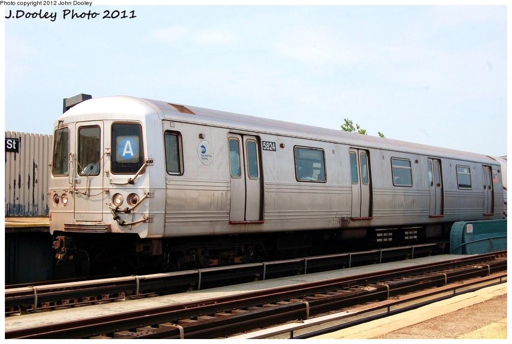 (293k, 1044x701)<br><b>Country:</b> United States<br><b>City:</b> New York<br><b>System:</b> New York City Transit<br><b>Line:</b> IND Fulton Street Line<br><b>Location:</b> 88th Street/Boyd Avenue <br><b>Route:</b> A<br><b>Car:</b> R-46 (Pullman-Standard, 1974-75) 5824 <br><b>Photo by:</b> John Dooley<br><b>Date:</b> 7/23/2011<br><b>Viewed (this week/total):</b> 1 / 618
