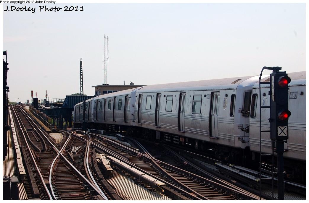 (288k, 1044x687)<br><b>Country:</b> United States<br><b>City:</b> New York<br><b>System:</b> New York City Transit<br><b>Line:</b> IND Fulton Street Line<br><b>Location:</b> Rockaway Boulevard <br><b>Route:</b> A<br><b>Car:</b> R-46 (Pullman-Standard, 1974-75) 5846 <br><b>Photo by:</b> John Dooley<br><b>Date:</b> 7/23/2011<br><b>Viewed (this week/total):</b> 1 / 586