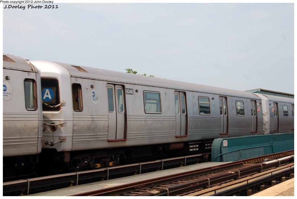 (238k, 1044x699)<br><b>Country:</b> United States<br><b>City:</b> New York<br><b>System:</b> New York City Transit<br><b>Line:</b> IND Fulton Street Line<br><b>Location:</b> 88th Street/Boyd Avenue <br><b>Route:</b> A<br><b>Car:</b> R-46 (Pullman-Standard, 1974-75) 6046 <br><b>Photo by:</b> John Dooley<br><b>Date:</b> 7/23/2011<br><b>Viewed (this week/total):</b> 1 / 669
