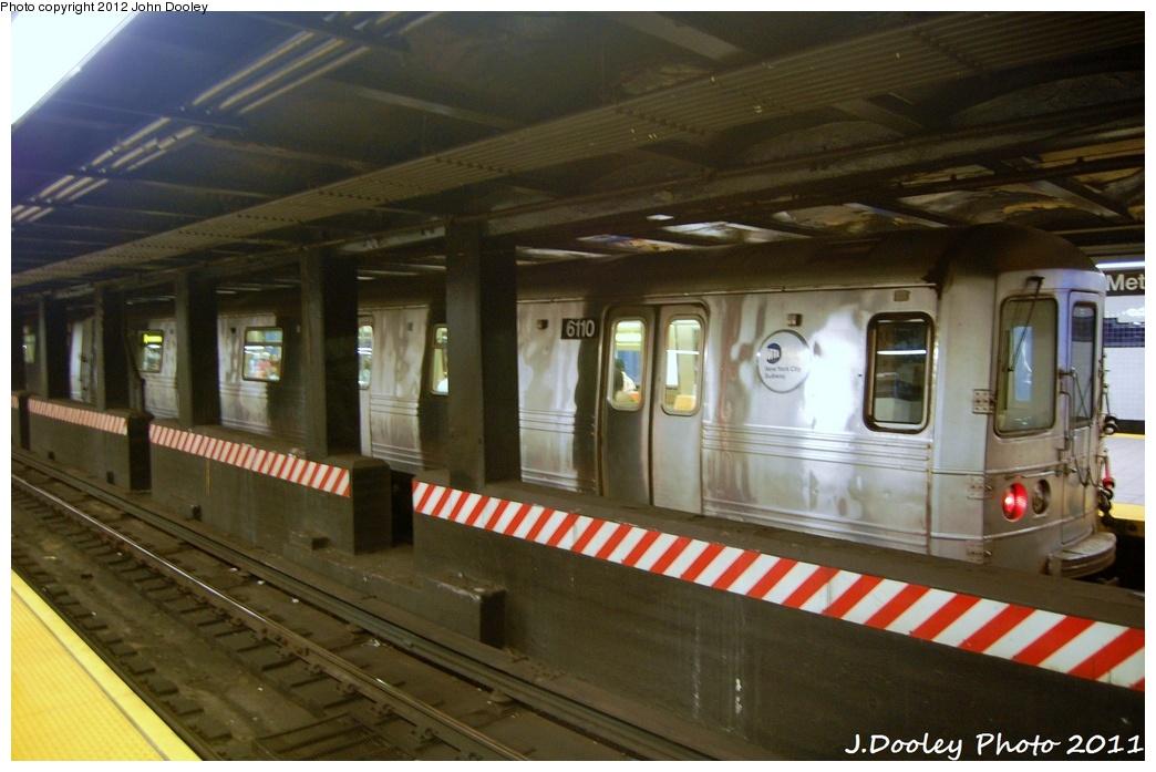 (287k, 1044x697)<br><b>Country:</b> United States<br><b>City:</b> New York<br><b>System:</b> New York City Transit<br><b>Line:</b> IND 8th Avenue Line<br><b>Location:</b> Jay St./Metrotech (Borough Hall) <br><b>Route:</b> A<br><b>Car:</b> R-46 (Pullman-Standard, 1974-75) 6110 <br><b>Photo by:</b> John Dooley<br><b>Date:</b> 7/23/2011<br><b>Viewed (this week/total):</b> 0 / 881