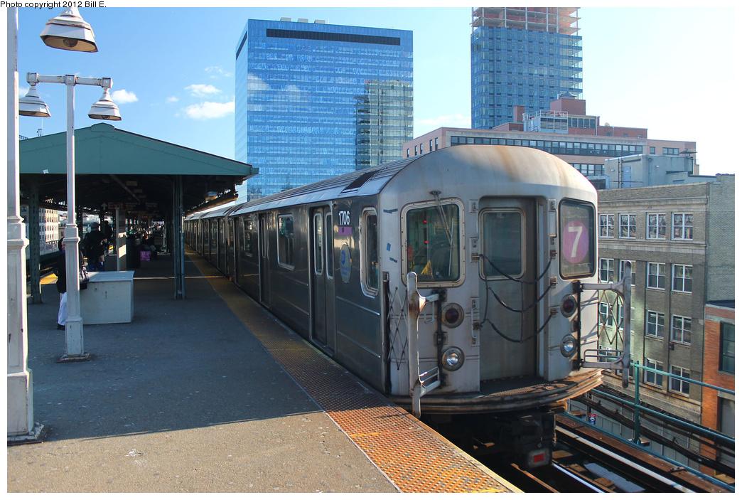 (397k, 1044x703)<br><b>Country:</b> United States<br><b>City:</b> New York<br><b>System:</b> New York City Transit<br><b>Line:</b> IRT Flushing Line<br><b>Location:</b> Queensborough Plaza <br><b>Route:</b> 7<br><b>Car:</b> R-62A (Bombardier, 1984-1987)  1706 <br><b>Photo by:</b> Bill E.<br><b>Date:</b> 12/24/2011<br><b>Viewed (this week/total):</b> 0 / 983
