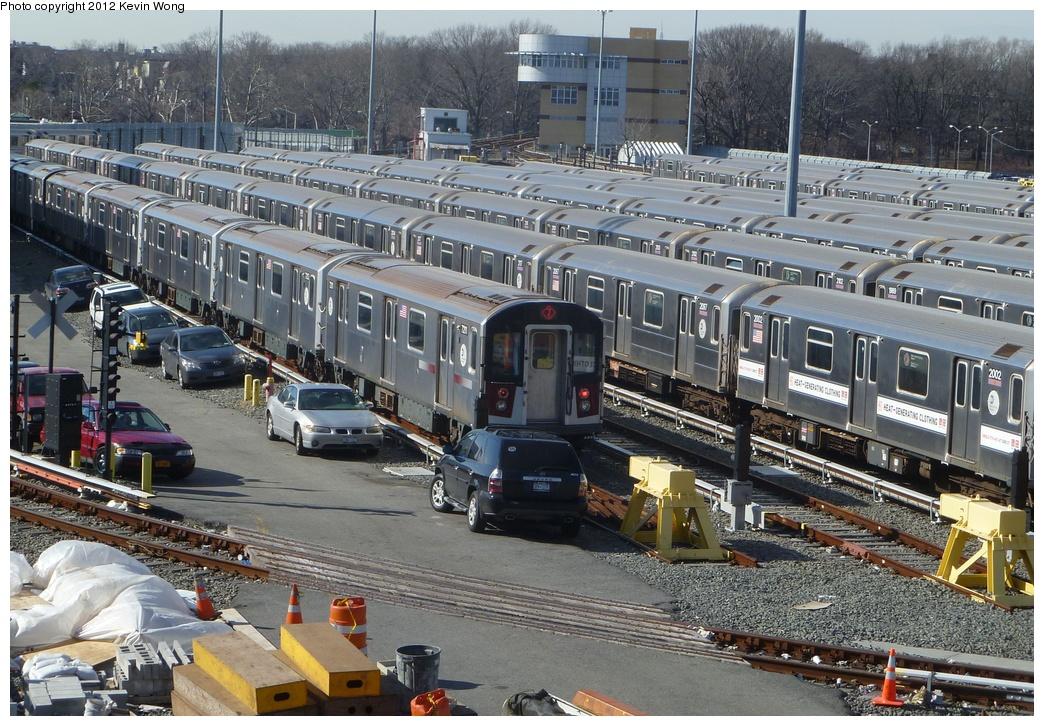 (409k, 1044x726)<br><b>Country:</b> United States<br><b>City:</b> New York<br><b>System:</b> New York City Transit<br><b>Location:</b> Corona Yard<br><b>Car:</b> R-188 (R-142A Conversion, Kawasaki, 1999-2002) 7211 <br><b>Photo by:</b> Kevin Wong<br><b>Date:</b> 1/31/2012<br><b>Viewed (this week/total):</b> 1 / 1563