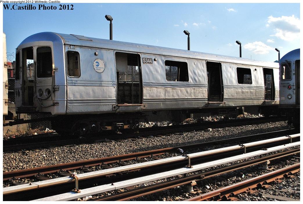 (405k, 1044x703)<br><b>Country:</b> United States<br><b>City:</b> New York<br><b>System:</b> New York City Transit<br><b>Location:</b> 207th Street Yard<br><b>Car:</b> R-44 (St. Louis, 1971-73) 5344 <br><b>Photo by:</b> Wilfredo Castillo<br><b>Date:</b> 2/1/2012<br><b>Viewed (this week/total):</b> 0 / 1155