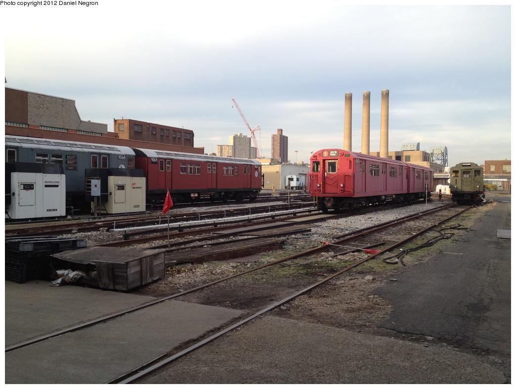 (290k, 1044x788)<br><b>Country:</b> United States<br><b>City:</b> New York<br><b>System:</b> New York City Transit<br><b>Location:</b> 207th Street Yard<br><b>Car:</b> R-33 Main Line (St. Louis, 1962-63) 9068/9069/9017/9016 <br><b>Photo by:</b> Daniel Negron<br><b>Date:</b> 1/11/2012<br><b>Viewed (this week/total):</b> 0 / 1247