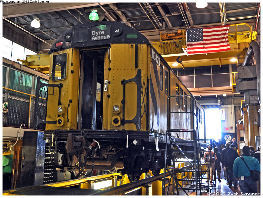 (545k, 1044x788)<br><b>Country:</b> United States<br><b>City:</b> New York<br><b>System:</b> New York City Transit<br><b>Location:</b> Westchester Yard<br><b>Car:</b> R-161 Rider Car (ex-R-33)  RD423 <br><b>Photo by:</b> Zach Summer<br><b>Date:</b> 11/5/2011<br><b>Viewed (this week/total):</b> 0 / 860