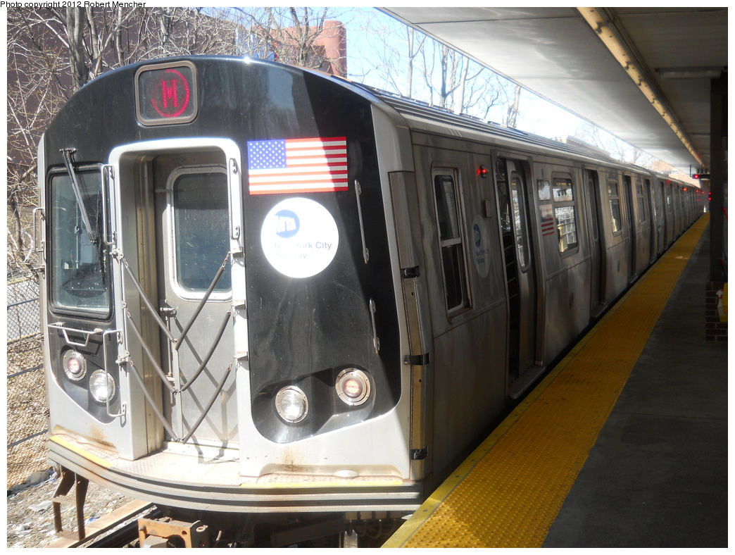(399k, 1044x788)<br><b>Country:</b> United States<br><b>City:</b> New York<br><b>System:</b> New York City Transit<br><b>Line:</b> BMT Myrtle Avenue Line<br><b>Location:</b> Metropolitan Avenue <br><b>Route:</b> M<br><b>Car:</b> R-160A-1 (Alstom, 2005-2008, 4 car sets)  8405 <br><b>Photo by:</b> Robert Mencher<br><b>Date:</b> 3/26/2011<br><b>Viewed (this week/total):</b> 2 / 1370
