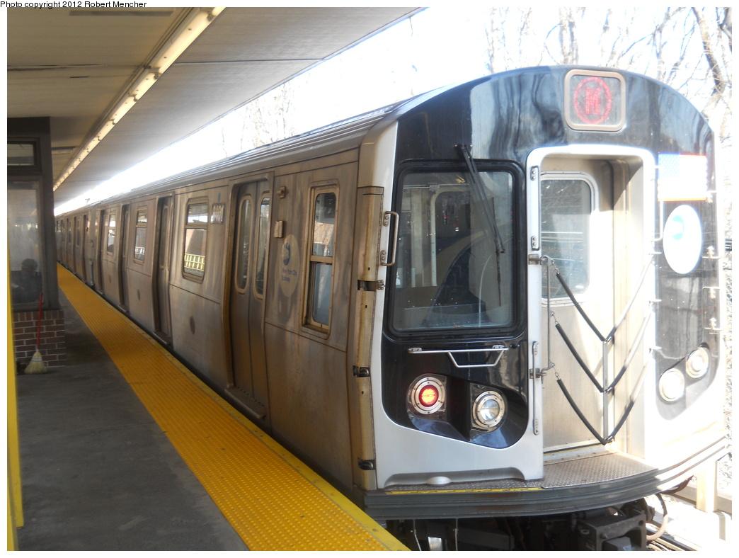 (338k, 1044x788)<br><b>Country:</b> United States<br><b>City:</b> New York<br><b>System:</b> New York City Transit<br><b>Line:</b> BMT Myrtle Avenue Line<br><b>Location:</b> Metropolitan Avenue <br><b>Route:</b> M<br><b>Car:</b> R-160A-1 (Alstom, 2005-2008, 4 car sets)  8401 <br><b>Photo by:</b> Robert Mencher<br><b>Date:</b> 3/26/2011<br><b>Viewed (this week/total):</b> 1 / 924