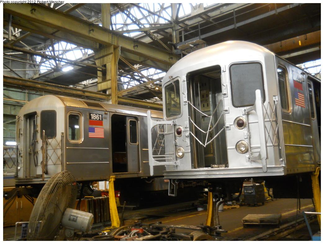 (394k, 1044x788)<br><b>Country:</b> United States<br><b>City:</b> New York<br><b>System:</b> New York City Transit<br><b>Location:</b> 207th Street Shop<br><b>Car:</b> R-62A (Bombardier, 1984-1987)  1861 <br><b>Photo by:</b> Robert Mencher<br><b>Date:</b> 3/27/2011<br><b>Viewed (this week/total):</b> 0 / 478