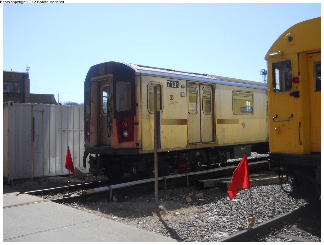 (316k, 1044x788)<br><b>Country:</b> United States<br><b>City:</b> New York<br><b>System:</b> New York City Transit<br><b>Location:</b> 207th Street Yard<br><b>Car:</b> R-142 (Option Order, Bombardier, 2002-2003)  7131 <br><b>Photo by:</b> Robert Mencher<br><b>Date:</b> 3/27/2011<br><b>Viewed (this week/total):</b> 1 / 633