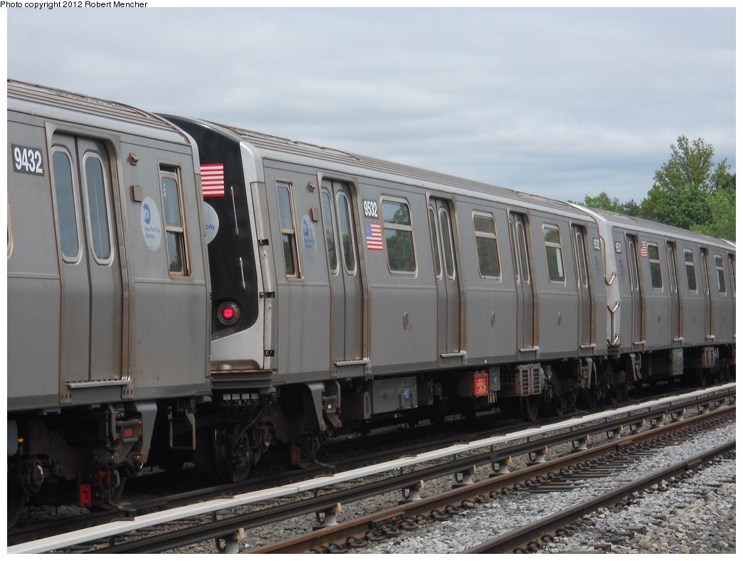 (334k, 1044x788)<br><b>Country:</b> United States<br><b>City:</b> New York<br><b>System:</b> New York City Transit<br><b>Location:</b> Jamaica Yard/Shops<br><b>Car:</b> R-160A (Option 1) (Alstom, 2008-2009, 5 car sets)  9532 <br><b>Photo by:</b> Robert Mencher<br><b>Date:</b> 5/11/2011<br><b>Viewed (this week/total):</b> 2 / 906