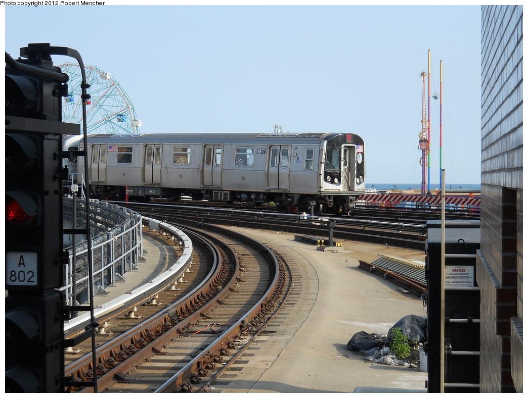 (380k, 1044x788)<br><b>Country:</b> United States<br><b>City:</b> New York<br><b>System:</b> New York City Transit<br><b>Location:</b> Coney Island/Stillwell Avenue<br><b>Route:</b> Q<br><b>Car:</b> R-160B (Option 1) (Kawasaki, 2008-2009)  8977 <br><b>Photo by:</b> Robert Mencher<br><b>Date:</b> 5/13/2011<br><b>Viewed (this week/total):</b> 0 / 688
