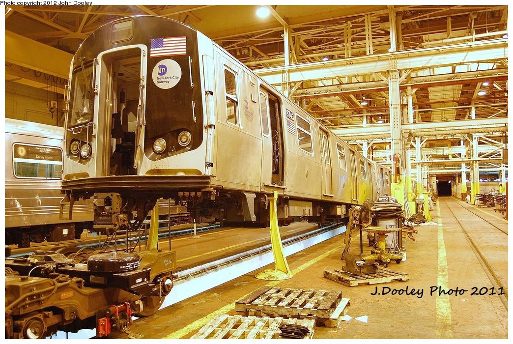 (483k, 1044x700)<br><b>Country:</b> United States<br><b>City:</b> New York<br><b>System:</b> New York City Transit<br><b>Location:</b> Coney Island Shop/Overhaul & Repair Shop<br><b>Car:</b> R-160B (Kawasaki, 2005-2008)  8743 <br><b>Photo by:</b> John Dooley<br><b>Date:</b> 10/15/2011<br><b>Viewed (this week/total):</b> 0 / 659