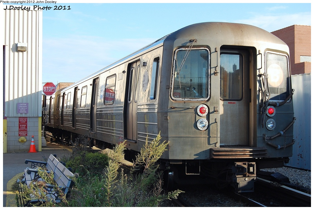 (365k, 1044x701)<br><b>Country:</b> United States<br><b>City:</b> New York<br><b>System:</b> New York City Transit<br><b>Location:</b> Coney Island Yard<br><b>Car:</b> R-68 (Westinghouse-Amrail, 1986-1988)  2842 <br><b>Photo by:</b> John Dooley<br><b>Date:</b> 10/15/2011<br><b>Viewed (this week/total):</b> 1 / 780