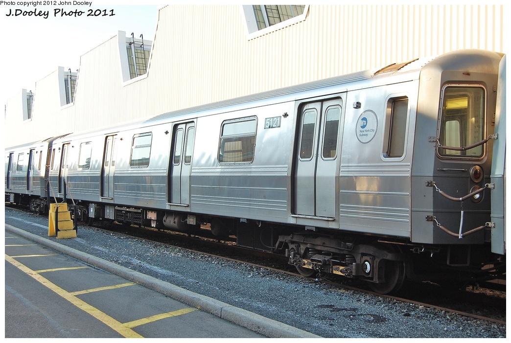 (340k, 1044x701)<br><b>Country:</b> United States<br><b>City:</b> New York<br><b>System:</b> New York City Transit<br><b>Location:</b> Coney Island Yard<br><b>Car:</b> R-68A (Kawasaki, 1988-1989)  5121 <br><b>Photo by:</b> John Dooley<br><b>Date:</b> 10/15/2011<br><b>Viewed (this week/total):</b> 0 / 709