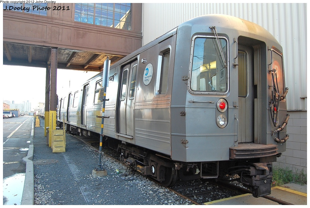 (382k, 1044x701)<br><b>Country:</b> United States<br><b>City:</b> New York<br><b>System:</b> New York City Transit<br><b>Location:</b> Coney Island Yard<br><b>Car:</b> R-68A (Kawasaki, 1988-1989)  5124 <br><b>Photo by:</b> John Dooley<br><b>Date:</b> 10/15/2011<br><b>Viewed (this week/total):</b> 0 / 764