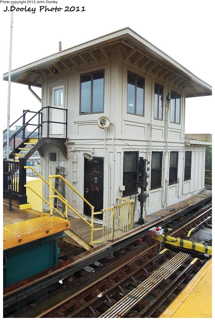 (376k, 701x1044)<br><b>Country:</b> United States<br><b>City:</b> New York<br><b>System:</b> New York City Transit<br><b>Line:</b> IRT Flushing Line<br><b>Location:</b> 111th Street <br><b>Photo by:</b> John Dooley<br><b>Date:</b> 9/20/2011<br><b>Notes:</b> Dispatcher/crew building.<br><b>Viewed (this week/total):</b> 0 / 1146