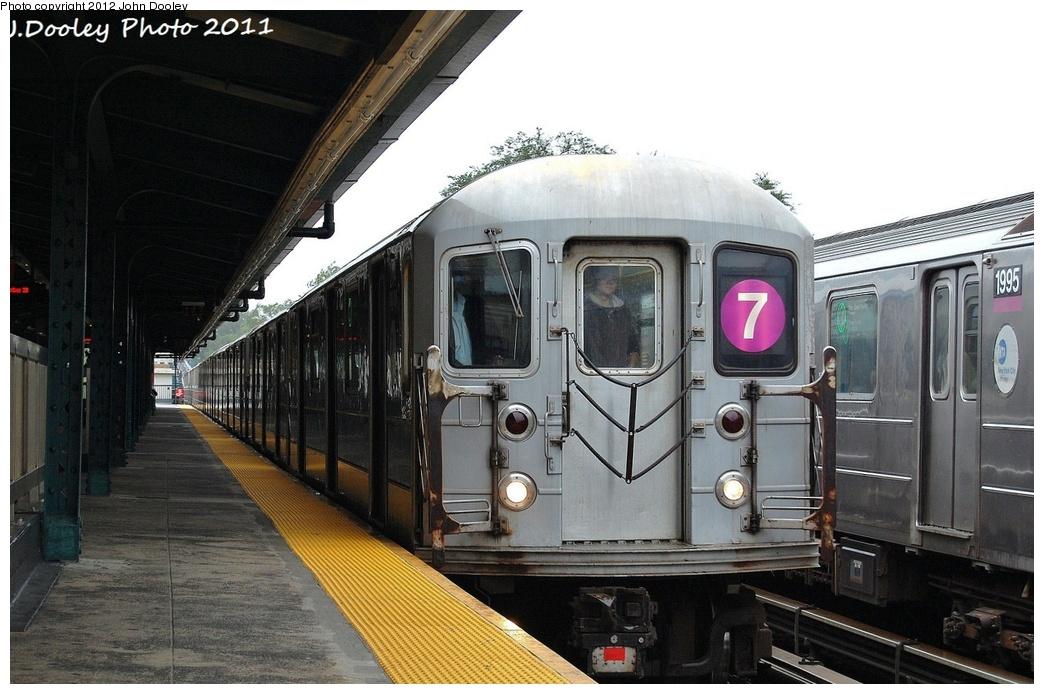 (311k, 1044x694)<br><b>Country:</b> United States<br><b>City:</b> New York<br><b>System:</b> New York City Transit<br><b>Line:</b> IRT Flushing Line<br><b>Location:</b> Willets Point/Mets (fmr. Shea Stadium) <br><b>Route:</b> 7<br><b>Car:</b> R-62A (Bombardier, 1984-1987)  2114 <br><b>Photo by:</b> John Dooley<br><b>Date:</b> 9/20/2011<br><b>Viewed (this week/total):</b> 0 / 956