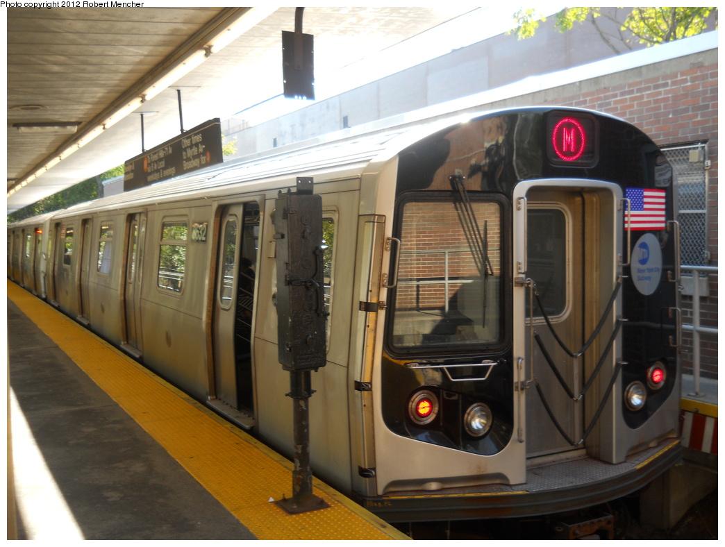 (343k, 1044x788)<br><b>Country:</b> United States<br><b>City:</b> New York<br><b>System:</b> New York City Transit<br><b>Line:</b> BMT Myrtle Avenue Line<br><b>Location:</b> Metropolitan Avenue <br><b>Route:</b> M<br><b>Car:</b> R-160A-1 (Alstom, 2005-2008, 4 car sets)  8532 <br><b>Photo by:</b> Robert Mencher<br><b>Date:</b> 10/8/2011<br><b>Viewed (this week/total):</b> 0 / 1137