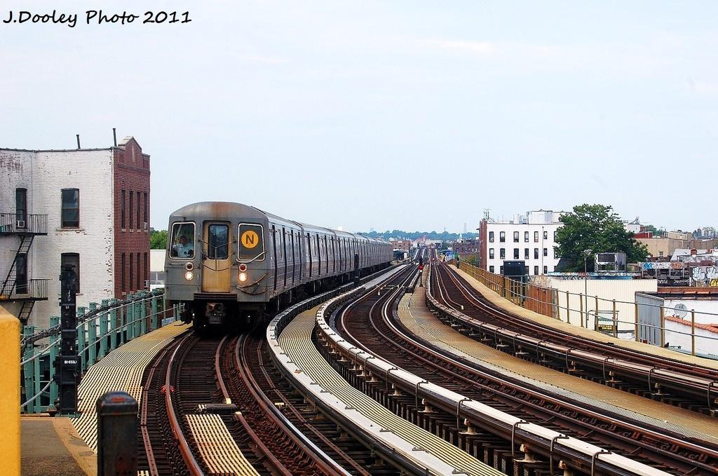(358k, 1024x679)<br><b>Country:</b> United States<br><b>City:</b> New York<br><b>System:</b> New York City Transit<br><b>Line:</b> BMT West End Line<br><b>Location:</b> 18th Avenue <br><b>Route:</b> N reroute<br><b>Car:</b> R-68A (Kawasaki, 1988-1989)  5200 <br><b>Photo by:</b> John Dooley<br><b>Date:</b> 7/23/2011<br><b>Viewed (this week/total):</b> 0 / 1138