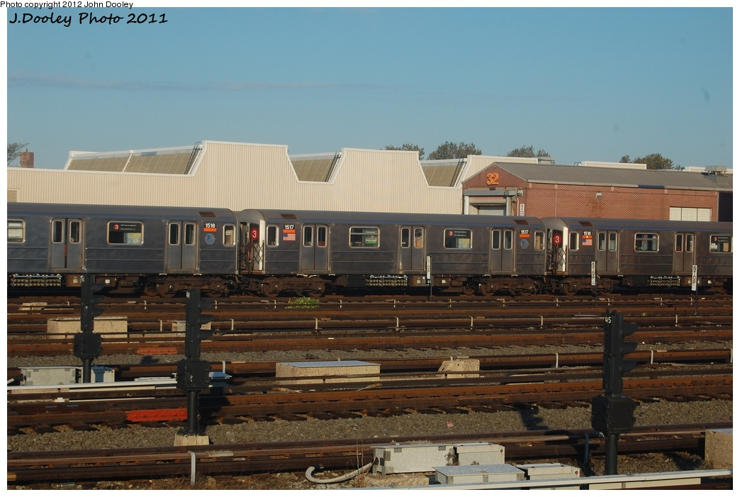 (289k, 1044x701)<br><b>Country:</b> United States<br><b>City:</b> New York<br><b>System:</b> New York City Transit<br><b>Location:</b> Coney Island Yard<br><b>Car:</b> R-62 (Kawasaki, 1983-1985)  1517 <br><b>Photo by:</b> John Dooley<br><b>Date:</b> 10/15/2011<br><b>Viewed (this week/total):</b> 3 / 472