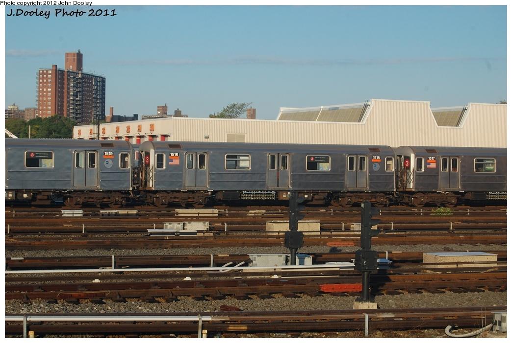 (300k, 1044x701)<br><b>Country:</b> United States<br><b>City:</b> New York<br><b>System:</b> New York City Transit<br><b>Location:</b> Coney Island Yard<br><b>Car:</b> R-62 (Kawasaki, 1983-1985)  1518 <br><b>Photo by:</b> John Dooley<br><b>Date:</b> 10/15/2011<br><b>Viewed (this week/total):</b> 1 / 432