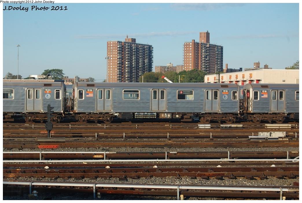 (329k, 1044x701)<br><b>Country:</b> United States<br><b>City:</b> New York<br><b>System:</b> New York City Transit<br><b>Location:</b> Coney Island Yard<br><b>Car:</b> R-62 (Kawasaki, 1983-1985)  1519 <br><b>Photo by:</b> John Dooley<br><b>Date:</b> 10/15/2011<br><b>Viewed (this week/total):</b> 2 / 459