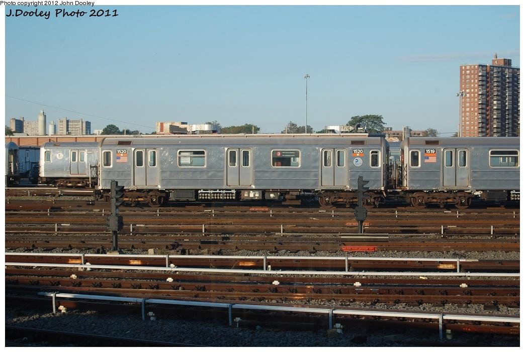 (303k, 1044x701)<br><b>Country:</b> United States<br><b>City:</b> New York<br><b>System:</b> New York City Transit<br><b>Location:</b> Coney Island Yard<br><b>Car:</b> R-62 (Kawasaki, 1983-1985)  1520 <br><b>Photo by:</b> John Dooley<br><b>Date:</b> 10/15/2011<br><b>Viewed (this week/total):</b> 0 / 487