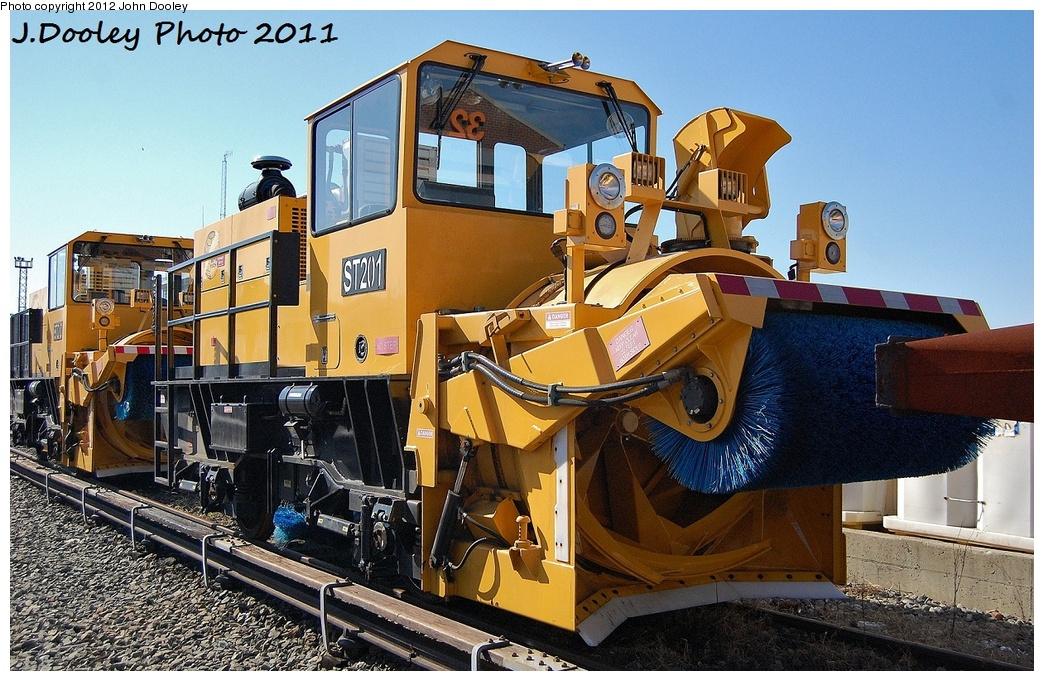 (389k, 1044x681)<br><b>Country:</b> United States<br><b>City:</b> New York<br><b>System:</b> New York City Transit<br><b>Location:</b> Coney Island Yard<br><b>Car:</b> R-146 Snow Removal Car ST201 <br><b>Photo by:</b> John Dooley<br><b>Date:</b> 10/9/2011<br><b>Viewed (this week/total):</b> 1 / 913