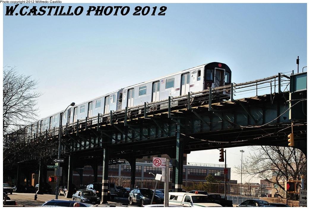 (346k, 1044x707)<br><b>Country:</b> United States<br><b>City:</b> New York<br><b>System:</b> New York City Transit<br><b>Line:</b> IRT Pelham Line<br><b>Location:</b> Middletown Road <br><b>Route:</b> 6<br><b>Car:</b> R-142A (Primary Order, Kawasaki, 1999-2002)  7336 <br><b>Photo by:</b> Wilfredo Castillo<br><b>Date:</b> 2/22/2012<br><b>Viewed (this week/total):</b> 0 / 1143