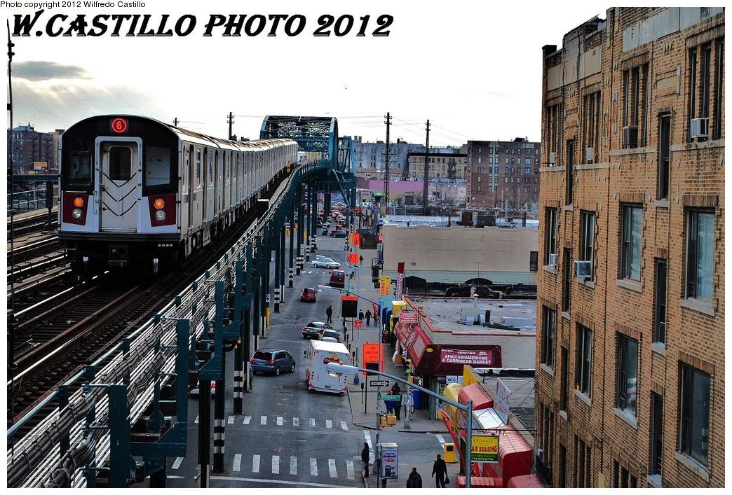 (420k, 1044x707)<br><b>Country:</b> United States<br><b>City:</b> New York<br><b>System:</b> New York City Transit<br><b>Line:</b> IRT Pelham Line<br><b>Location:</b> Elder Avenue <br><b>Route:</b> 6<br><b>Car:</b> R-142 or R-142A (Number Unknown)  <br><b>Photo by:</b> Wilfredo Castillo<br><b>Date:</b> 2/22/2012<br><b>Viewed (this week/total):</b> 1 / 1144