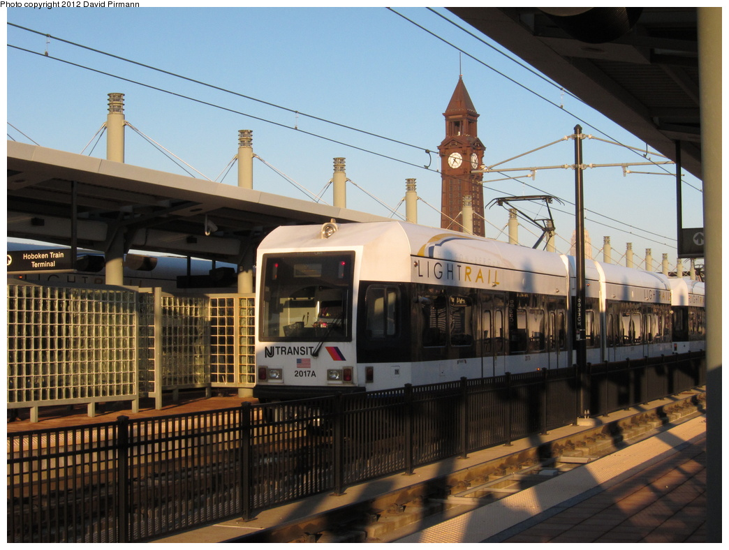 (329k, 1044x788)<br><b>Country:</b> United States<br><b>City:</b> Hoboken, NJ<br><b>System:</b> Hudson Bergen Light Rail<br><b>Location:</b> Hoboken <br><b>Car:</b> NJT-HBLR LRV (Kinki-Sharyo, 1998-99)  2017 <br><b>Photo by:</b> David Pirmann<br><b>Date:</b> 2/6/2012<br><b>Viewed (this week/total):</b> 0 / 367