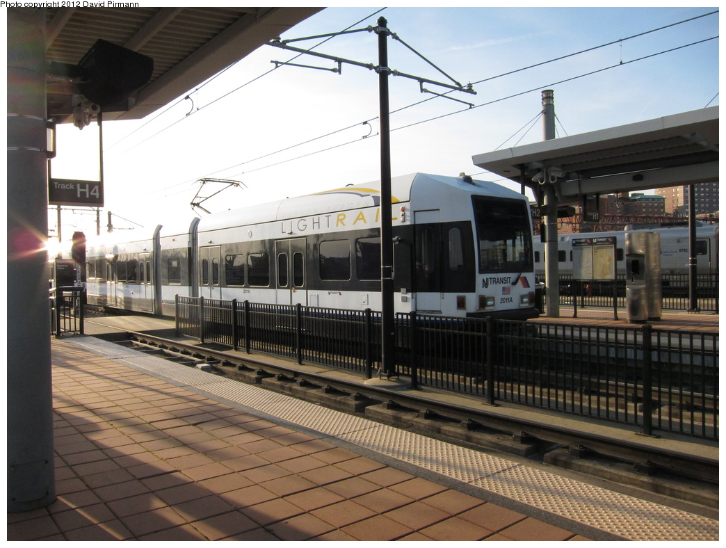 (321k, 1044x788)<br><b>Country:</b> United States<br><b>City:</b> Hoboken, NJ<br><b>System:</b> Hudson Bergen Light Rail<br><b>Location:</b> Hoboken <br><b>Car:</b> NJT-HBLR LRV (Kinki-Sharyo, 1998-99)  2011 <br><b>Photo by:</b> David Pirmann<br><b>Date:</b> 3/7/2012<br><b>Viewed (this week/total):</b> 1 / 436