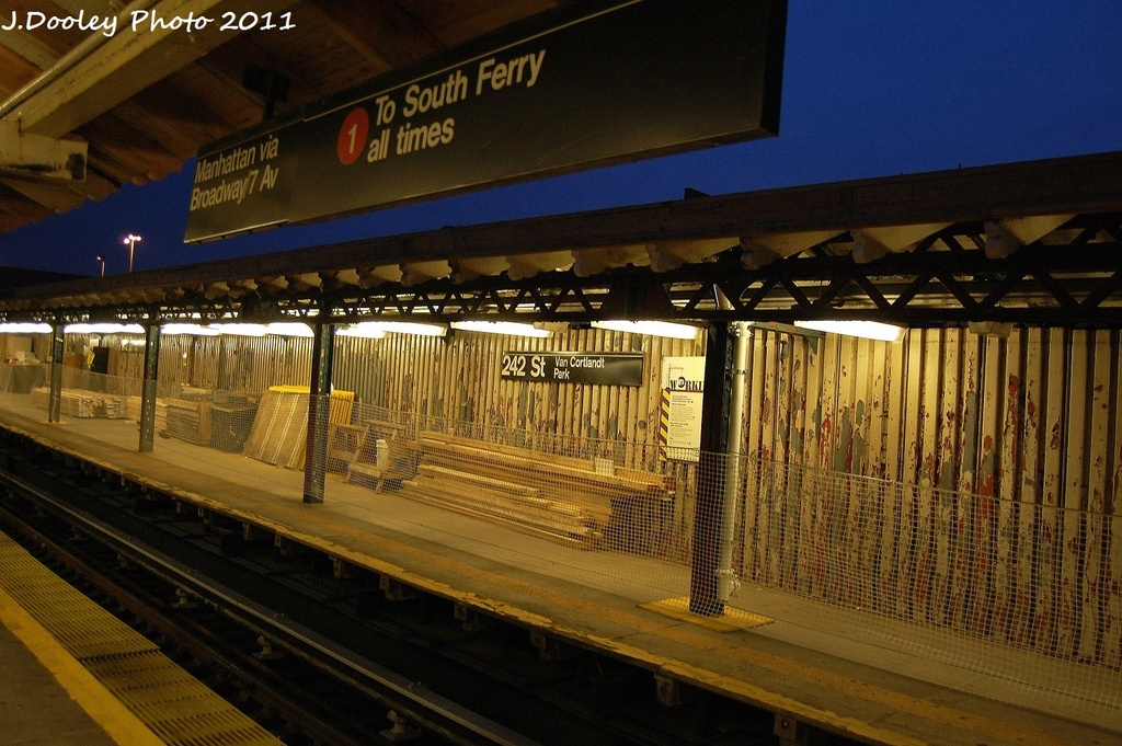 (356k, 1024x681)<br><b>Country:</b> United States<br><b>City:</b> New York<br><b>System:</b> New York City Transit<br><b>Line:</b> IRT West Side Line<br><b>Location:</b> 242nd Street/Van Cortlandt Park <br><b>Photo by:</b> John Dooley<br><b>Date:</b> 9/22/2011<br><b>Viewed (this week/total):</b> 2 / 1176