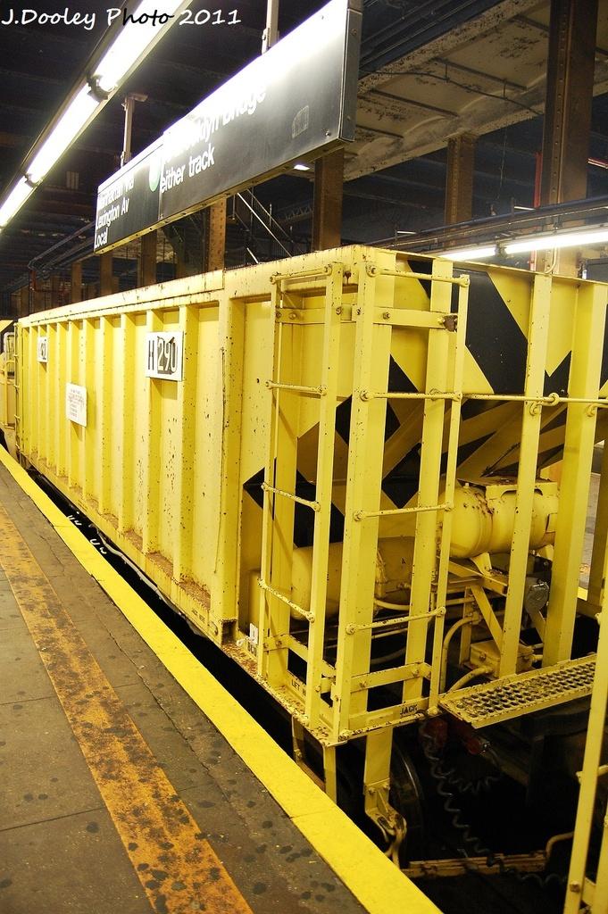 (378k, 681x1024)<br><b>Country:</b> United States<br><b>City:</b> New York<br><b>System:</b> New York City Transit<br><b>Line:</b> IRT Pelham Line<br><b>Location:</b> 3rd Avenue/138th Street <br><b>Route:</b> Work Service<br><b>Car:</b> R-80 MoW Hopper (1983, Maxon)  290 <br><b>Photo by:</b> John Dooley<br><b>Date:</b> 9/22/2011<br><b>Viewed (this week/total):</b> 1 / 916