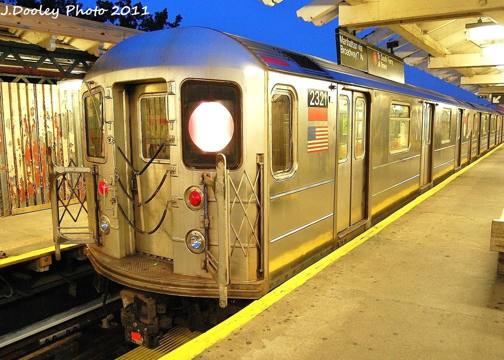 (472k, 1024x731)<br><b>Country:</b> United States<br><b>City:</b> New York<br><b>System:</b> New York City Transit<br><b>Line:</b> IRT West Side Line<br><b>Location:</b> 242nd Street/Van Cortlandt Park <br><b>Route:</b> 1<br><b>Car:</b> R-62A (Bombardier, 1984-1987)  2321 <br><b>Photo by:</b> John Dooley<br><b>Date:</b> 9/22/2011<br><b>Viewed (this week/total):</b> 2 / 1129