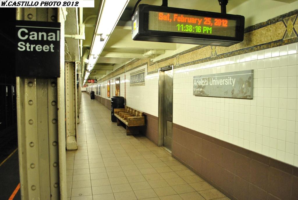 (270k, 1024x687)<br><b>Country:</b> United States<br><b>City:</b> New York<br><b>System:</b> New York City Transit<br><b>Line:</b> IRT West Side Line<br><b>Location:</b> Canal Street <br><b>Photo by:</b> Wilfredo Castillo<br><b>Date:</b> 2/25/2012<br><b>Viewed (this week/total):</b> 1 / 1165