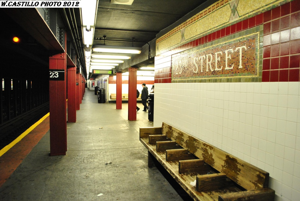 (298k, 1024x687)<br><b>Country:</b> United States<br><b>City:</b> New York<br><b>System:</b> New York City Transit<br><b>Line:</b> IRT West Side Line<br><b>Location:</b> 23rd Street <br><b>Photo by:</b> Wilfredo Castillo<br><b>Date:</b> 2/25/2012<br><b>Viewed (this week/total):</b> 2 / 1113