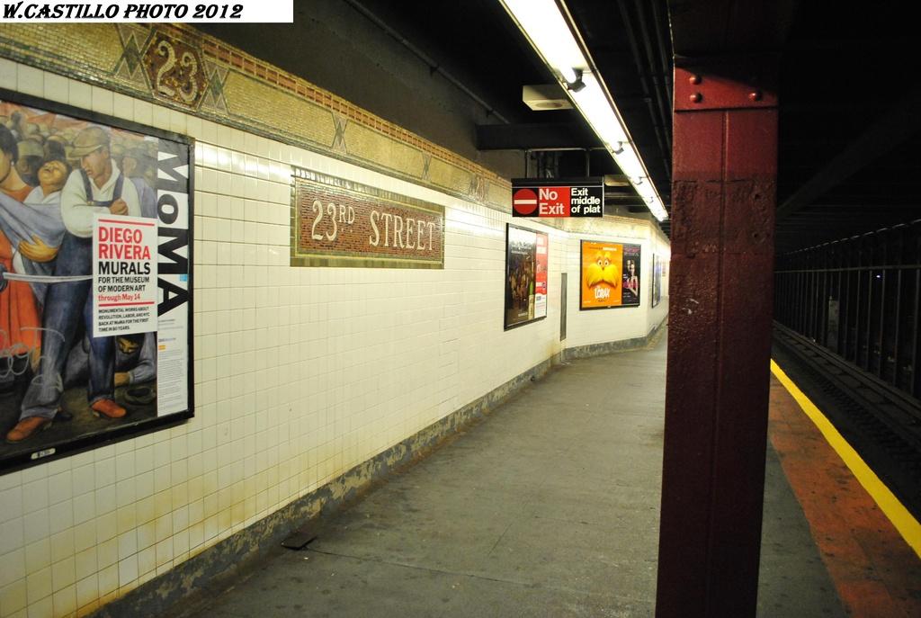 (278k, 1024x687)<br><b>Country:</b> United States<br><b>City:</b> New York<br><b>System:</b> New York City Transit<br><b>Line:</b> IRT West Side Line<br><b>Location:</b> 23rd Street <br><b>Photo by:</b> Wilfredo Castillo<br><b>Date:</b> 2/25/2012<br><b>Viewed (this week/total):</b> 0 / 978