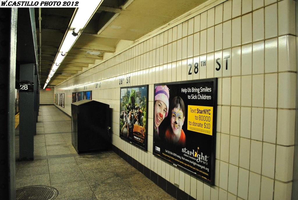 (294k, 1024x687)<br><b>Country:</b> United States<br><b>City:</b> New York<br><b>System:</b> New York City Transit<br><b>Line:</b> IRT West Side Line<br><b>Location:</b> 28th Street <br><b>Photo by:</b> Wilfredo Castillo<br><b>Date:</b> 2/25/2012<br><b>Viewed (this week/total):</b> 2 / 989