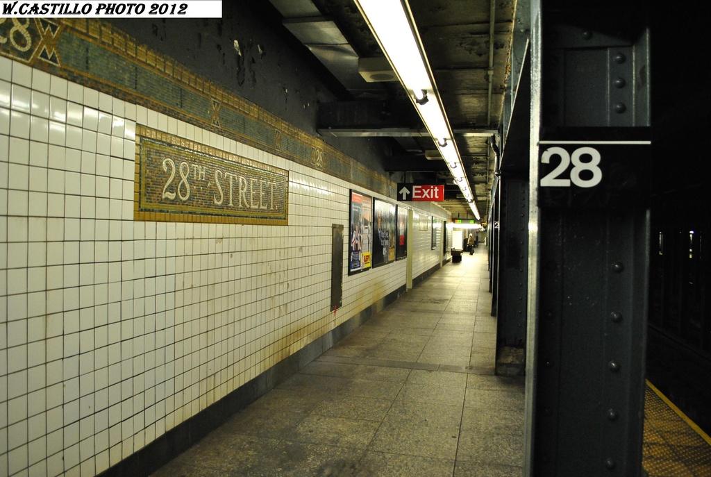 (295k, 1024x687)<br><b>Country:</b> United States<br><b>City:</b> New York<br><b>System:</b> New York City Transit<br><b>Line:</b> IRT West Side Line<br><b>Location:</b> 28th Street <br><b>Photo by:</b> Wilfredo Castillo<br><b>Date:</b> 2/25/2012<br><b>Viewed (this week/total):</b> 3 / 1039