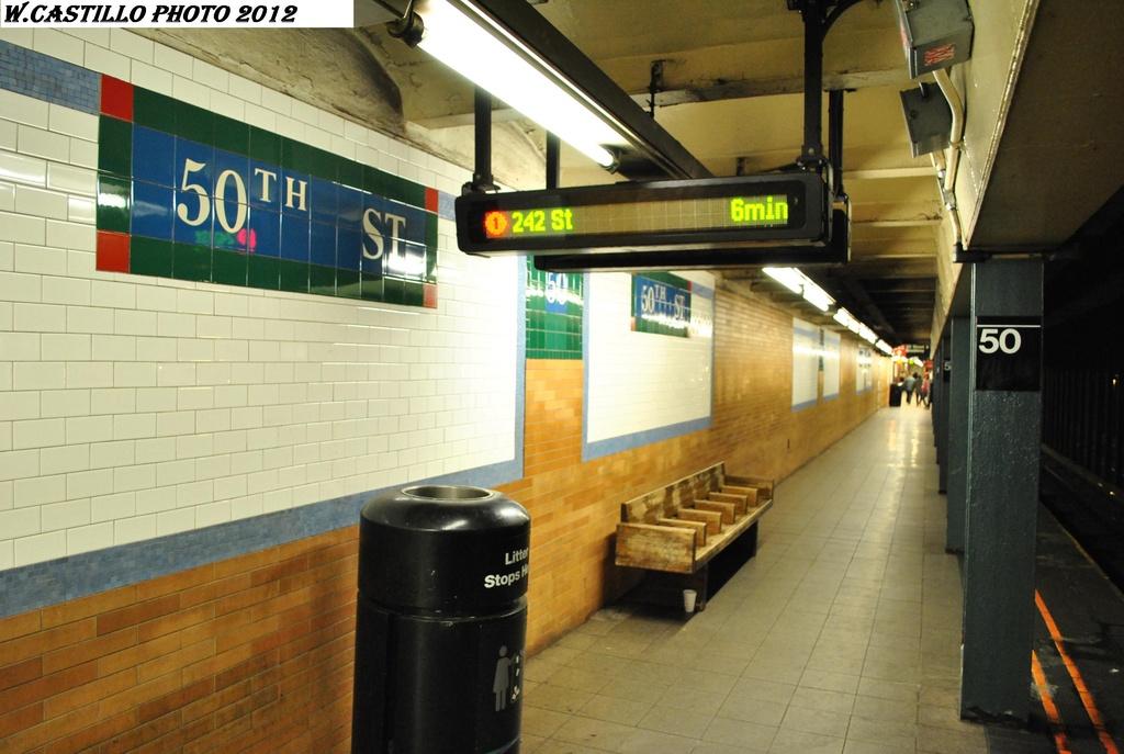 (272k, 1024x687)<br><b>Country:</b> United States<br><b>City:</b> New York<br><b>System:</b> New York City Transit<br><b>Line:</b> IRT West Side Line<br><b>Location:</b> 50th Street <br><b>Photo by:</b> Wilfredo Castillo<br><b>Date:</b> 2/25/2012<br><b>Viewed (this week/total):</b> 1 / 1168