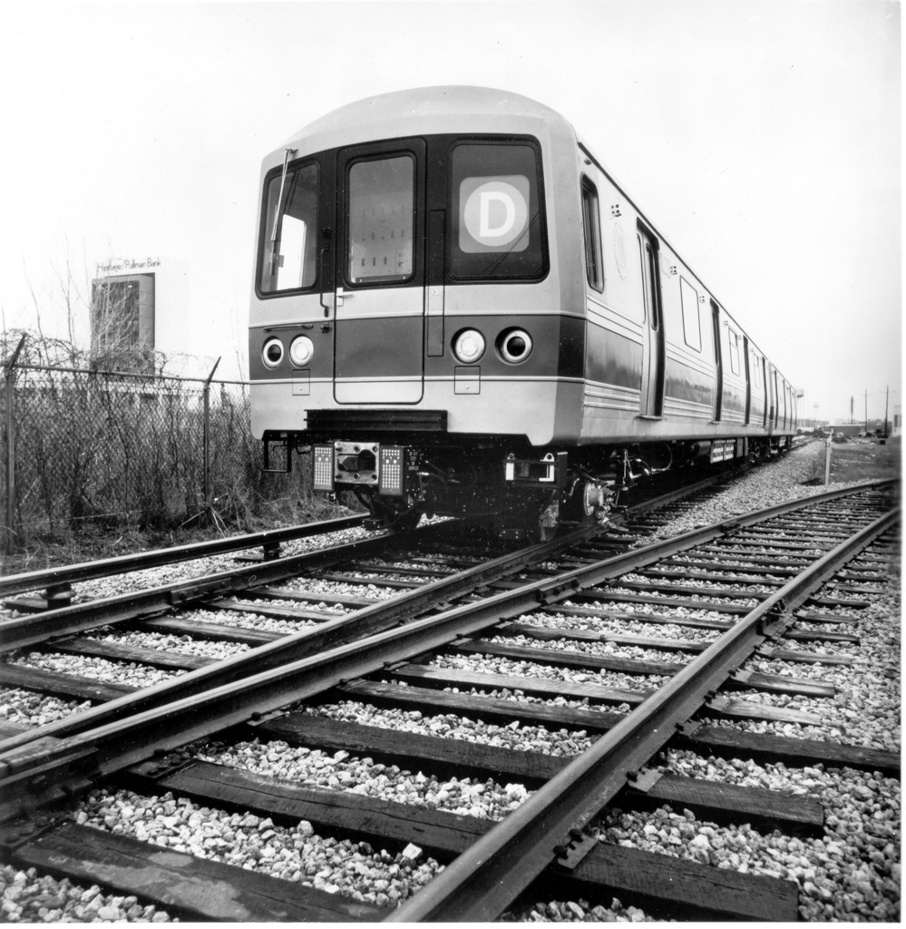(355k, 999x1024)<br><b>Country:</b> United States<br><b>City:</b> New York<br><b>System:</b> New York City Transit<br><b>Location:</b> Pullman-Standard plant, Chicago, IL<br><b>Car:</b> R-46 (Pullman-Standard, 1974-75) 500 <br><b>Photo by:</b> Ed Watson/Arthur Lonto Collection<br><b>Collection of:</b> Frank Pfuhler<br><b>Date:</b> 3/1975<br><b>Viewed (this week/total):</b> 3 / 949