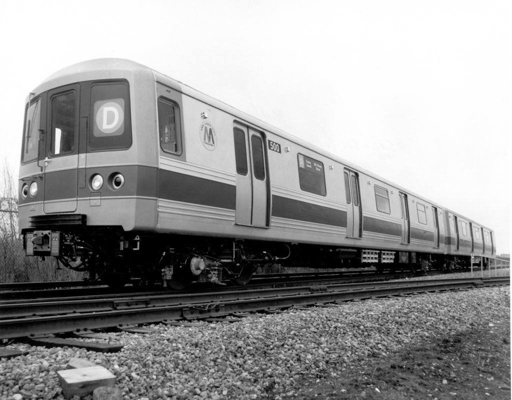 (224k, 1024x800)<br><b>Country:</b> United States<br><b>City:</b> New York<br><b>System:</b> New York City Transit<br><b>Location:</b> Pullman-Standard plant, Chicago, IL<br><b>Car:</b> R-46 (Pullman-Standard, 1974-75) 500 <br><b>Photo by:</b> Ed Watson/Arthur Lonto Collection<br><b>Collection of:</b> Frank Pfuhler<br><b>Date:</b> 3/1975<br><b>Viewed (this week/total):</b> 1 / 788