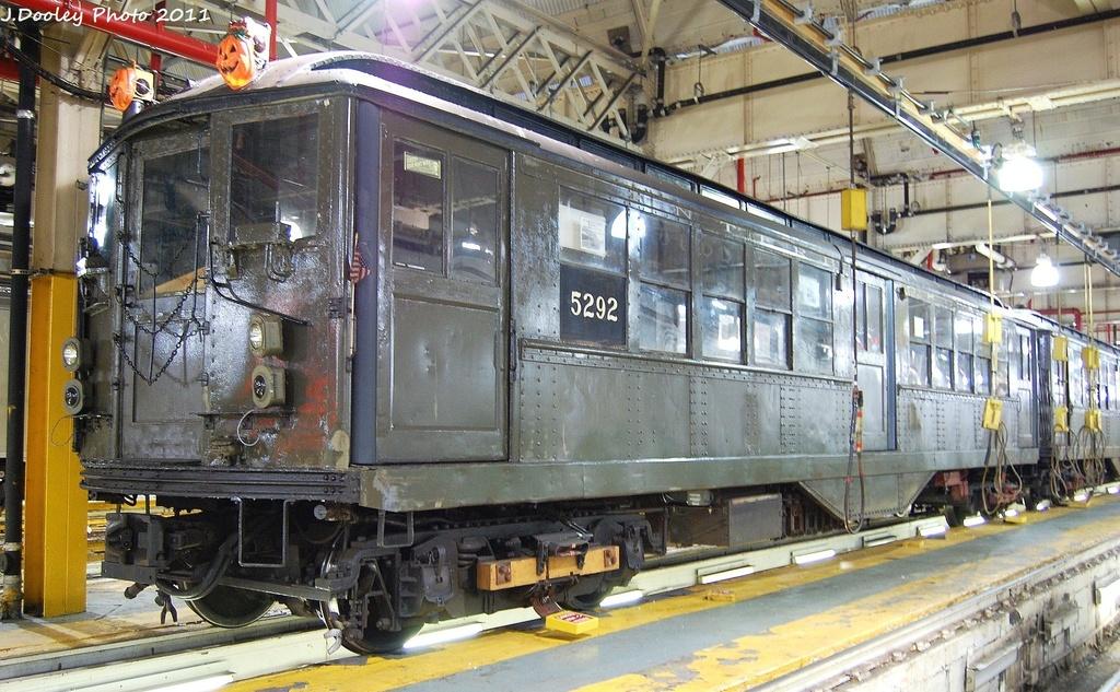 (384k, 1024x633)<br><b>Country:</b> United States<br><b>City:</b> New York<br><b>System:</b> New York City Transit<br><b>Location:</b> 239th Street Yard<br><b>Car:</b> Low-V (Museum Train) 5292 <br><b>Photo by:</b> John Dooley<br><b>Date:</b> 12/8/2011<br><b>Viewed (this week/total):</b> 0 / 1276