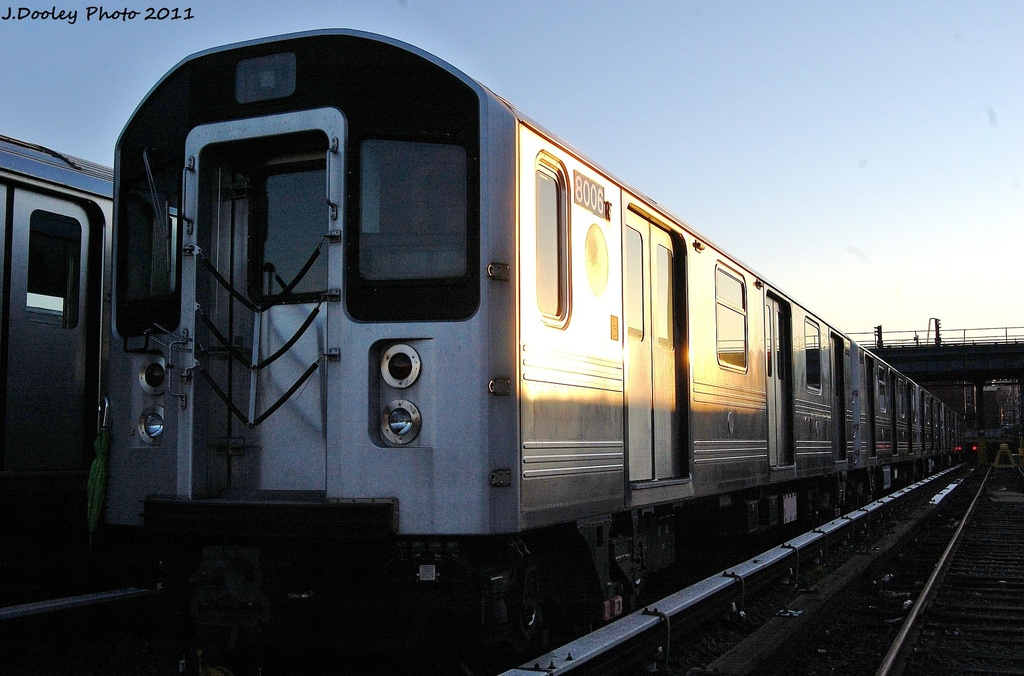 (292k, 1024x676)<br><b>Country:</b> United States<br><b>City:</b> New York<br><b>System:</b> New York City Transit<br><b>Location:</b> 239th Street Yard<br><b>Car:</b> R-110A (Kawasaki, 1992) 8006 <br><b>Photo by:</b> John Dooley<br><b>Date:</b> 12/8/2011<br><b>Viewed (this week/total):</b> 0 / 1613